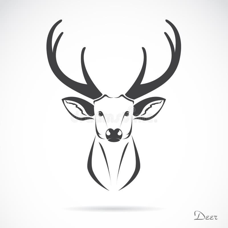Vectorbeeld van een hertenhoofd royalty-vrije illustratie