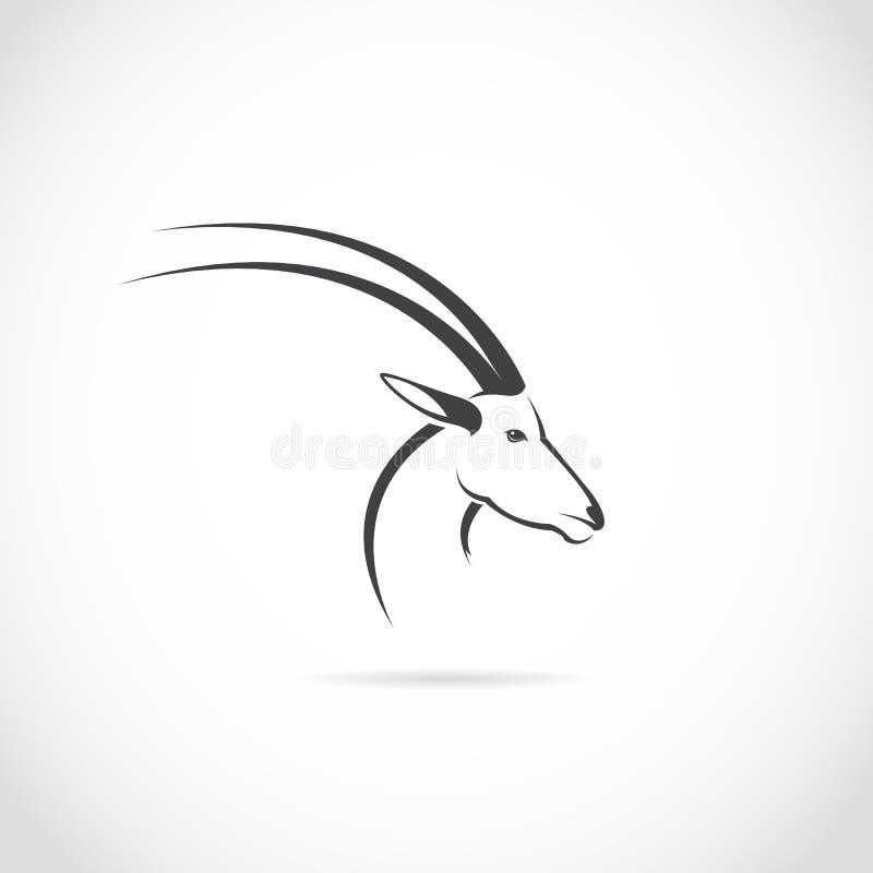 Vectorbeeld van een hertenhoofd (impala) stock illustratie