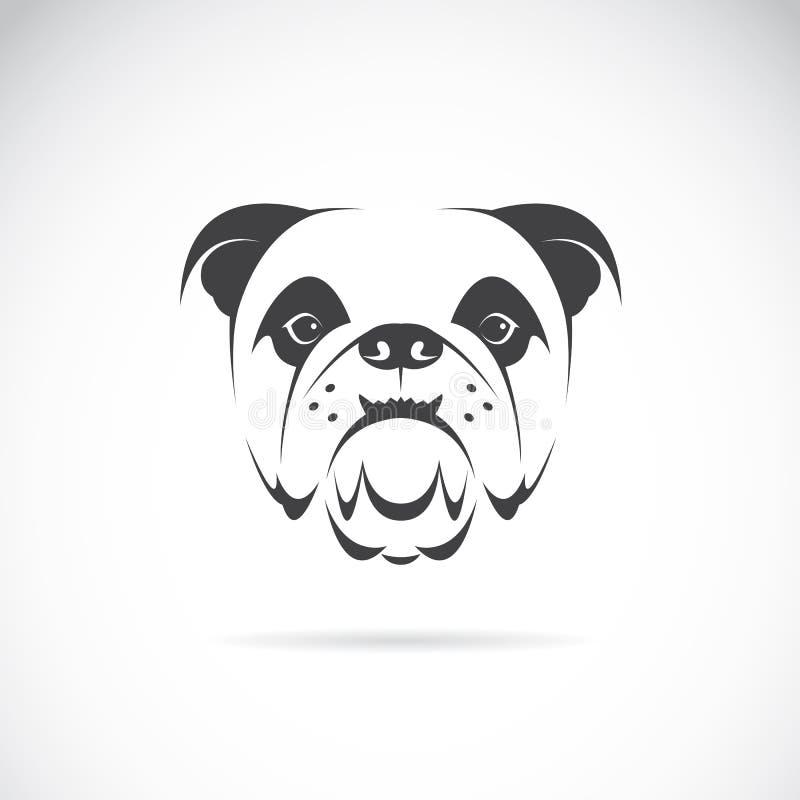 Vectorbeeld van een hondgezicht (buldog) royalty-vrije illustratie