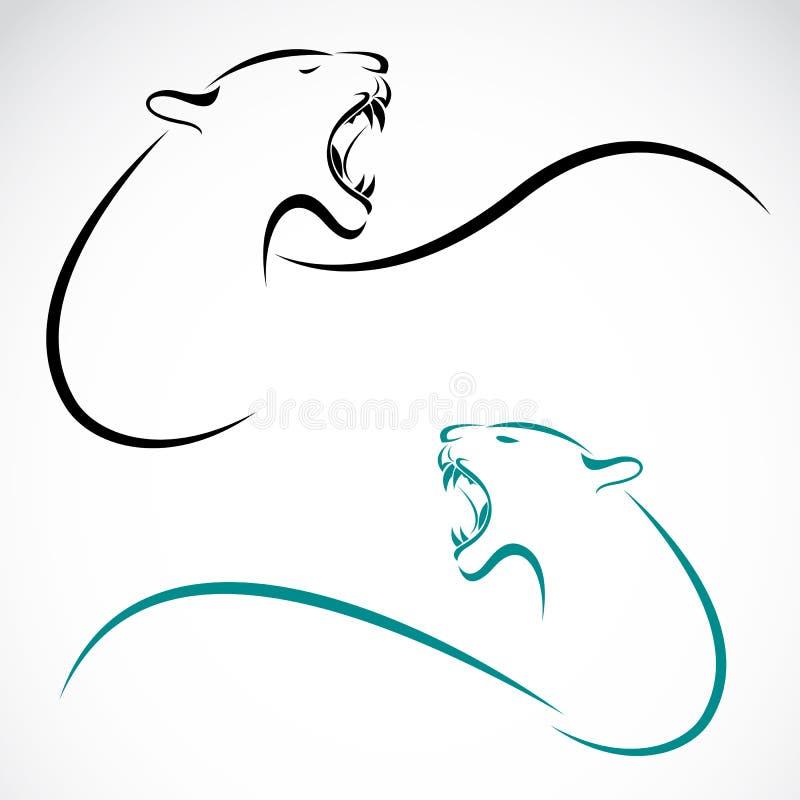 Vectorbeeld van een leeuw stock illustratie