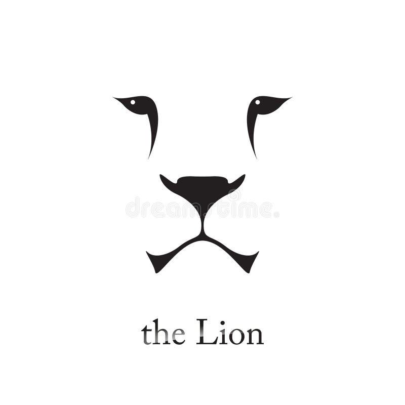 Vectorbeeld van een leeuwhoofd op witte achtergrond royalty-vrije illustratie