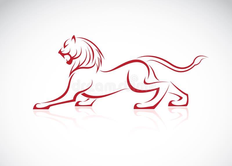 Vectorbeeld van een leeuwontwerp stock illustratie