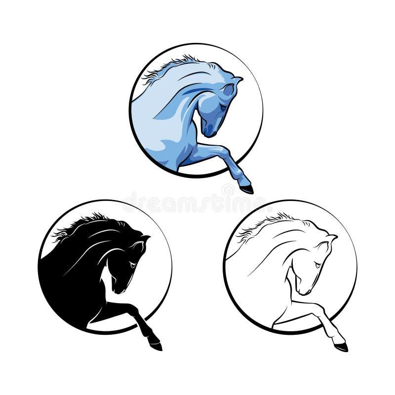 Vectorbeeld van een paard Logo Horse stock illustratie