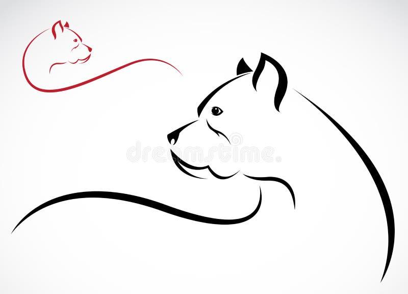 Vectorbeeld van een pitbull stock illustratie