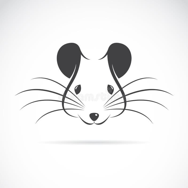 Vectorbeeld van een rattenhoofd royalty-vrije illustratie