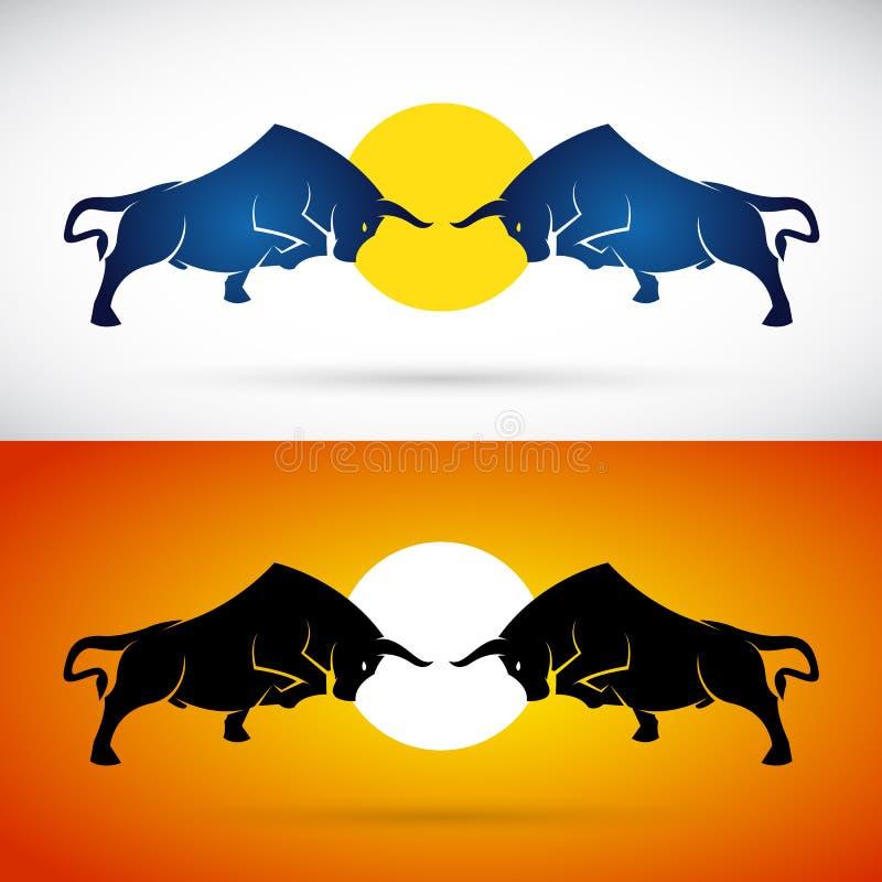 Vectorbeeld van een stieregevecht vector illustratie