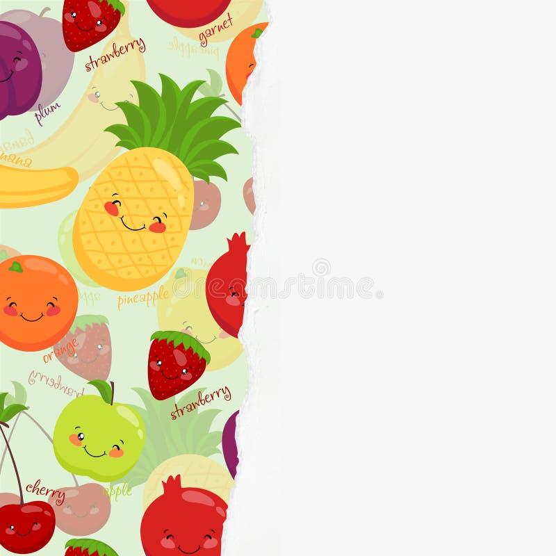 Vectorbeeld van grappig snuitenfruit, vegetariër royalty-vrije illustratie