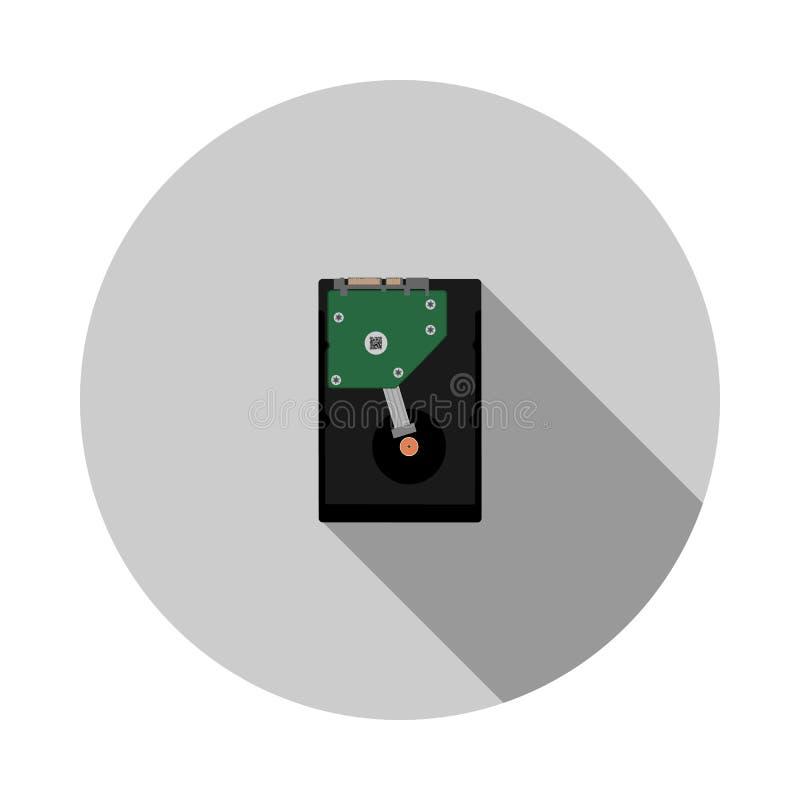 Vectorbeeld van harde schijf HDD vector illustratie