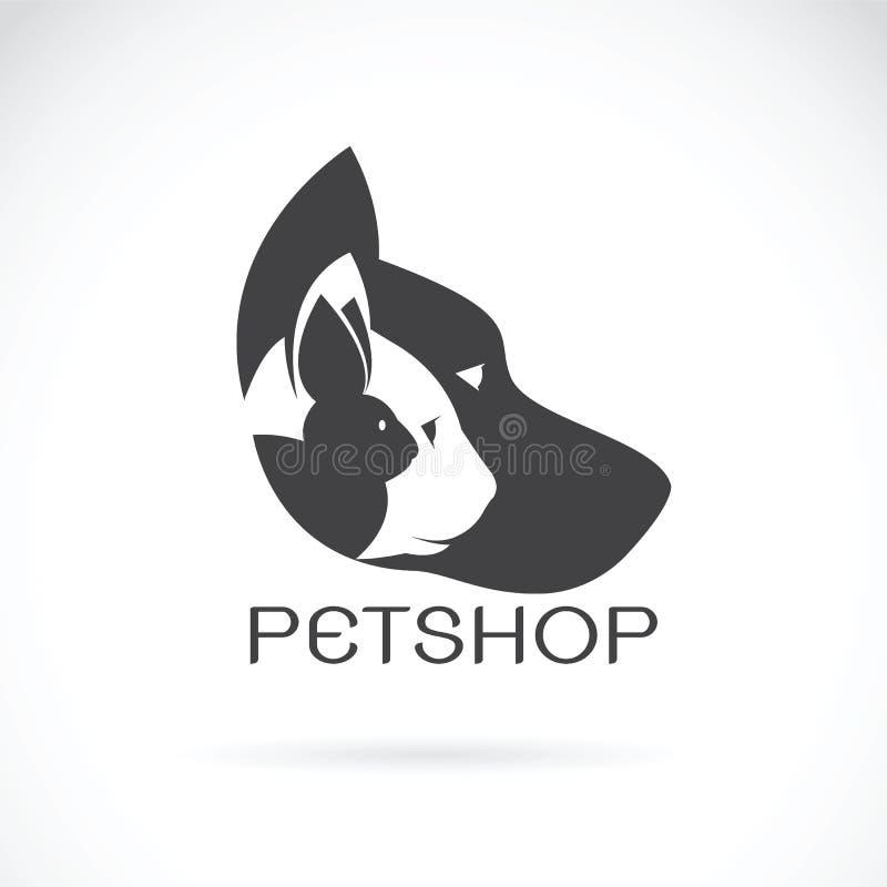 Vectorbeeld van huisdierenontwerp op witte achtergrond stock illustratie