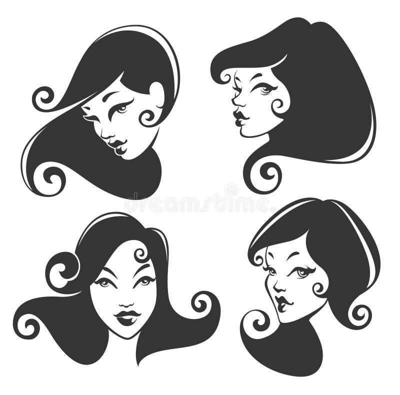 Vectorbeeld van meisjesgezicht vector illustratie