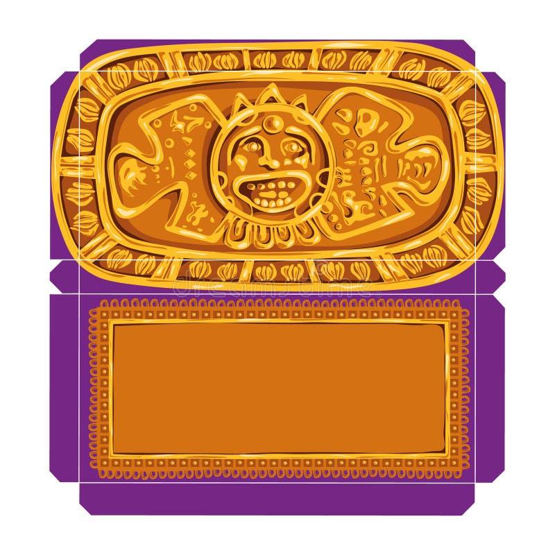 Vectorbeeld van verpakking voor chocolade, dat op een witte achtergrond wordt geïsoleerd royalty-vrije illustratie