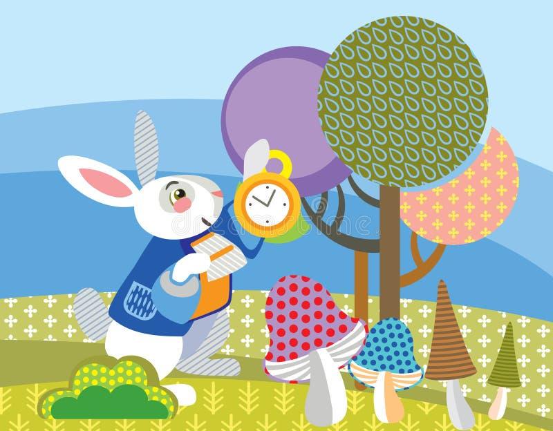 Vectorbeeld Wit konijn stock illustratie