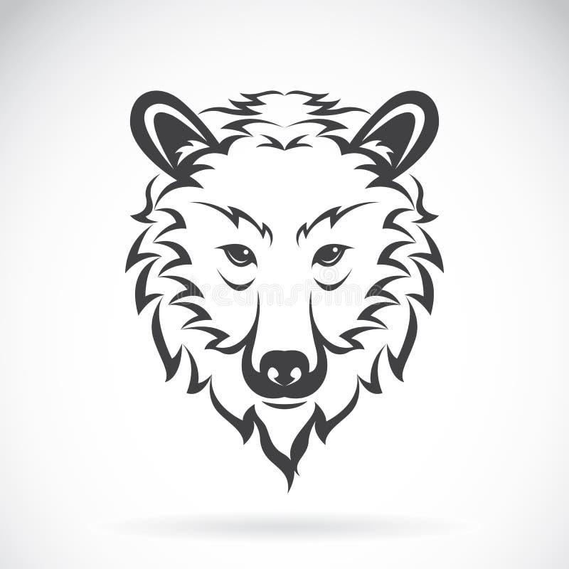 Vectorbeelden van beerhoofd op een witte achtergrond vector illustratie