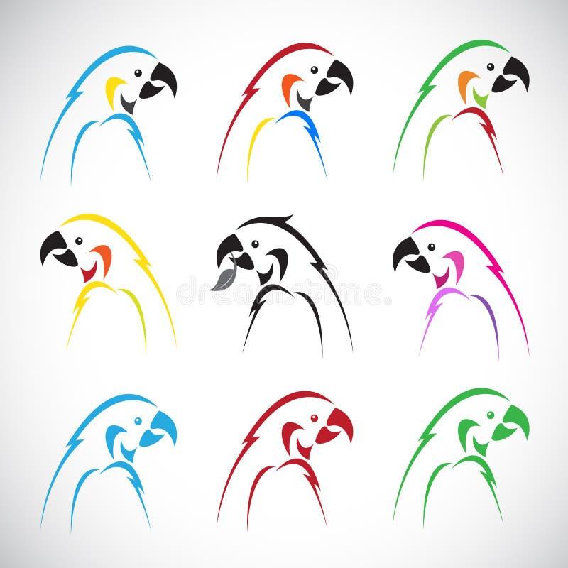 Vectorbeelden van groepspapegaai royalty-vrije illustratie