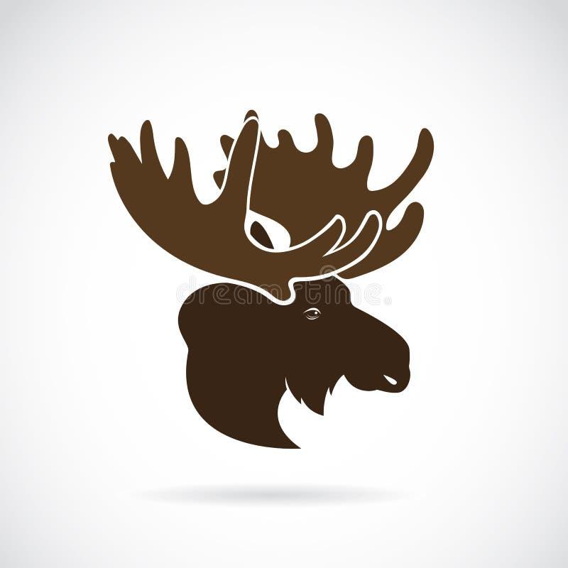Vectorbeelden van het hoofd van Amerikaanse elandenherten royalty-vrije illustratie
