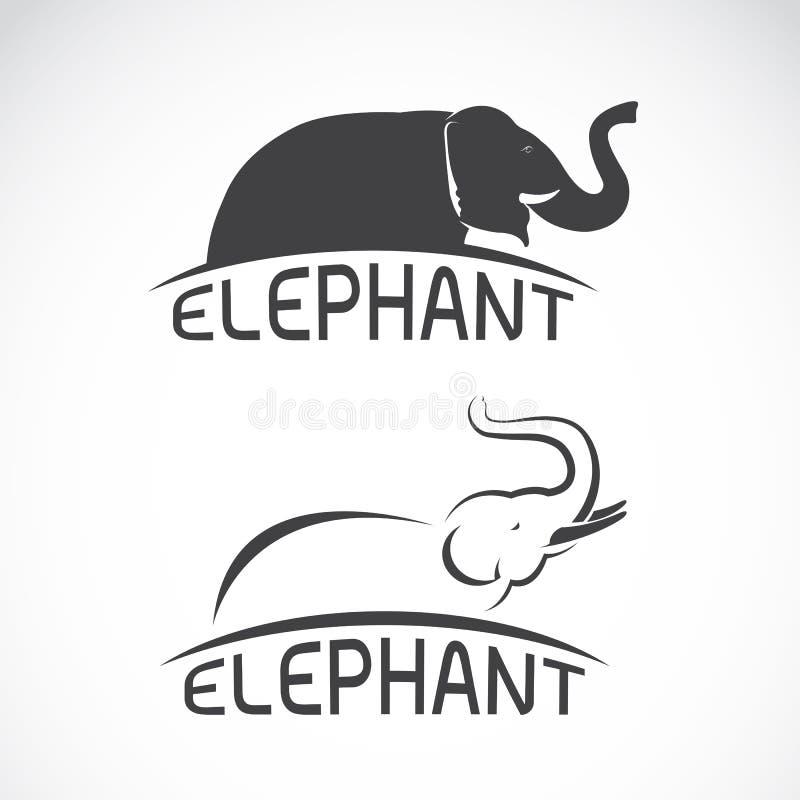 Vectorbeelden van olifantsontwerp stock illustratie