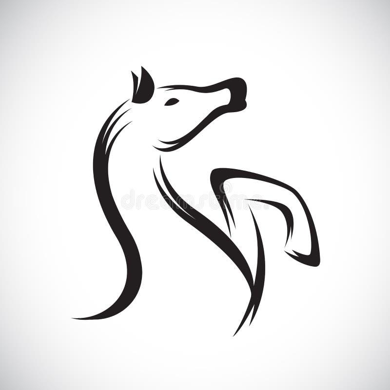 Vectorbeelden van paard royalty-vrije illustratie