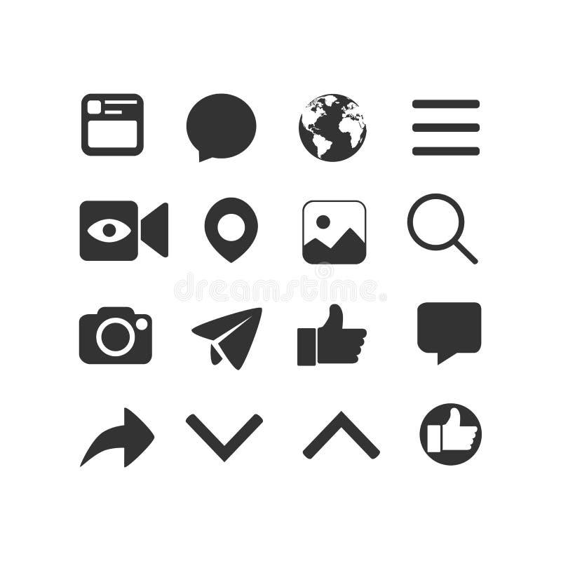 Vectorbeeldreeks Internet-pictogrammen vector illustratie