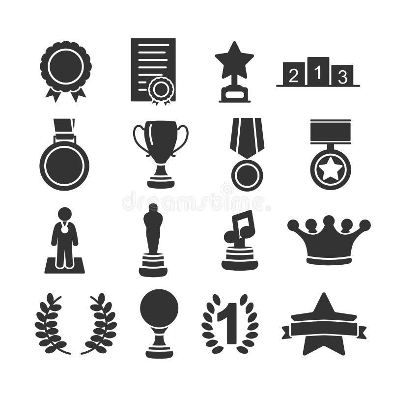 Vectorbeeldreeks toekenningspictogrammen royalty-vrije stock afbeelding