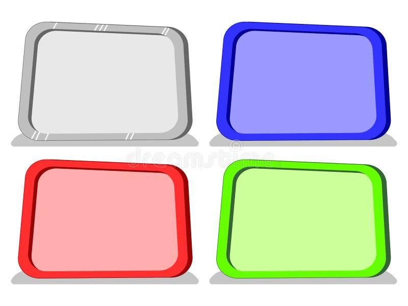 Vectorbeeldverhaal lege raad in 4 kleuren stock afbeelding
