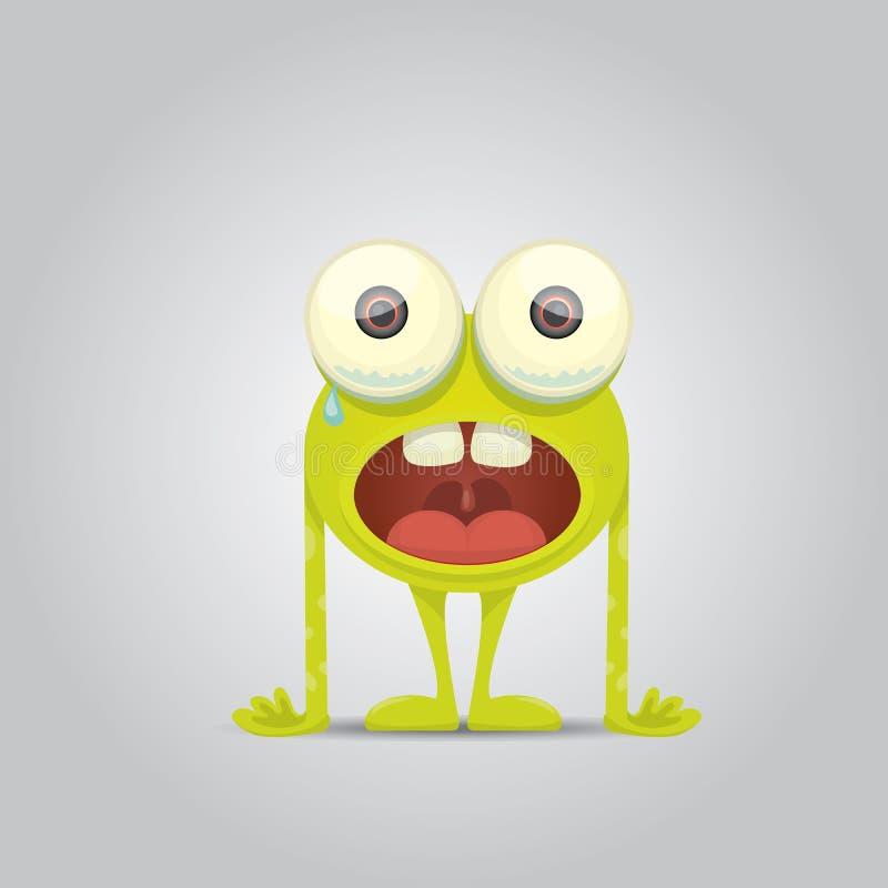 Vectorbeeldverhaal leuk het glimlachen monster stock illustratie