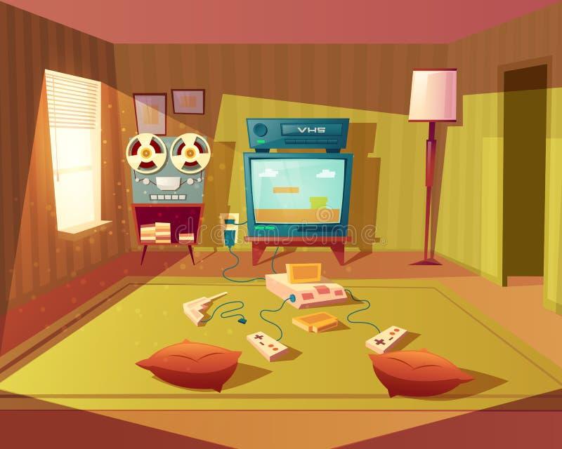 Vectorbeeldverhaalbinnenland van speelkamer voor kinderen vector illustratie