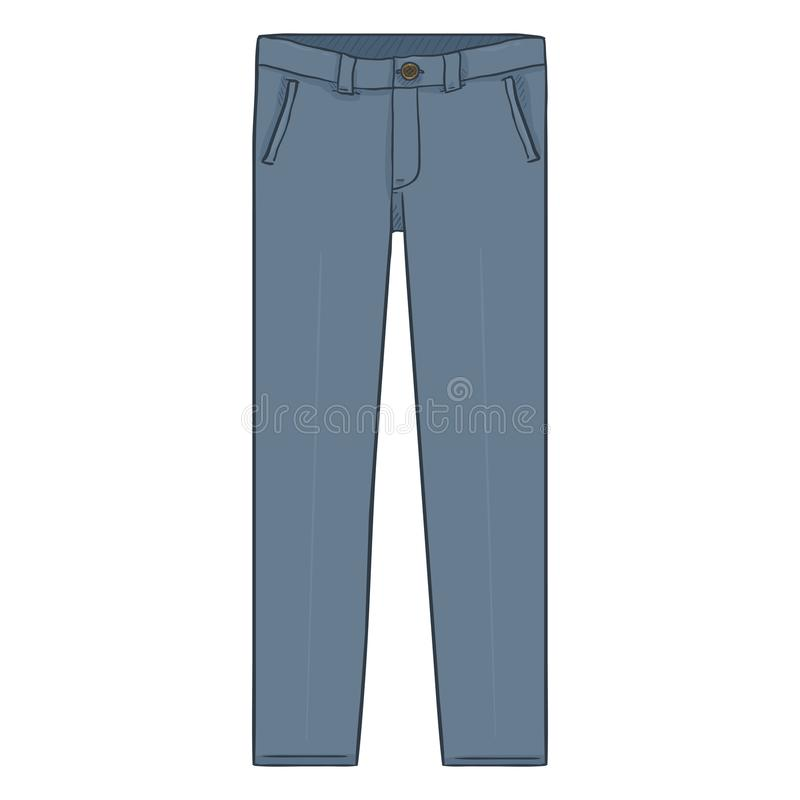 Vectorbeeldverhaalillustratie - Gray Classic Mens Trousers vector illustratie