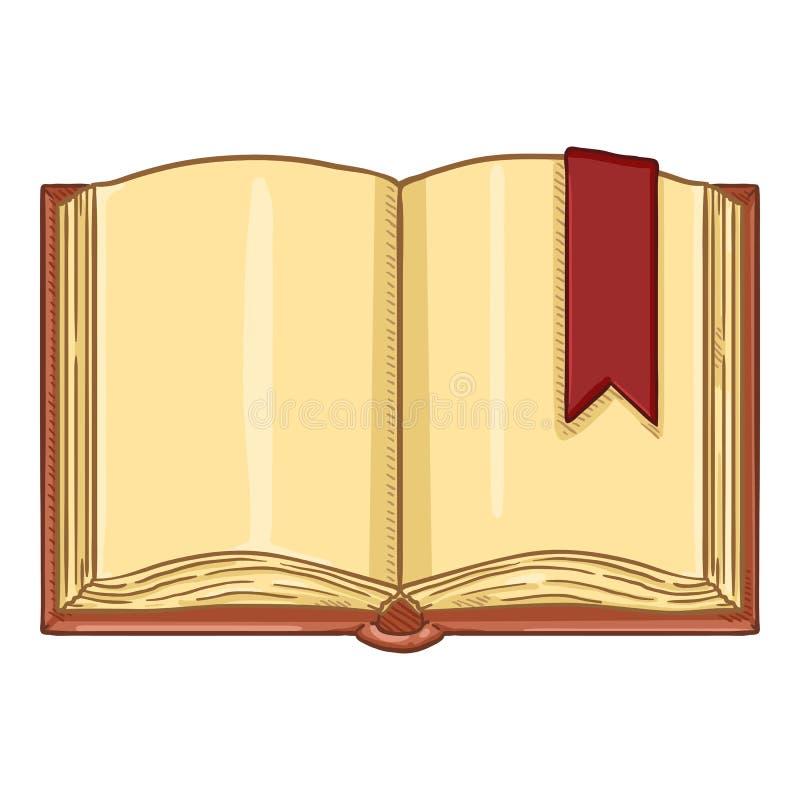 Vectorbeeldverhaalillustratie - Open Boek met Referentie vector illustratie