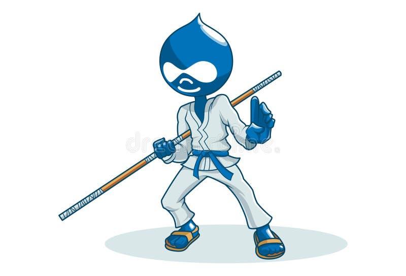 Vectorbeeldverhaalillustratie van Leuke Ninja vector illustratie