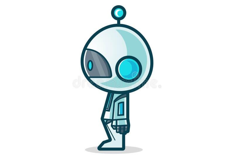 Vectorbeeldverhaalillustratie van Leuke Robot royalty-vrije illustratie