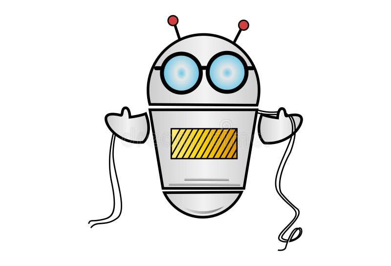Vectorbeeldverhaalillustratie van Robot vector illustratie