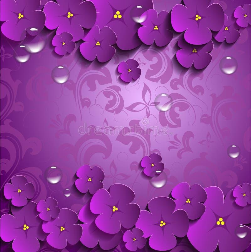 Vectorbloemen in 3D stock afbeelding