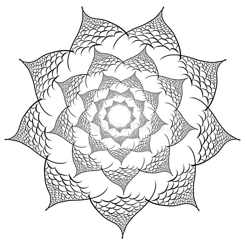 Vectorbloemmandala De elementen van het ontwerp vector illustratie