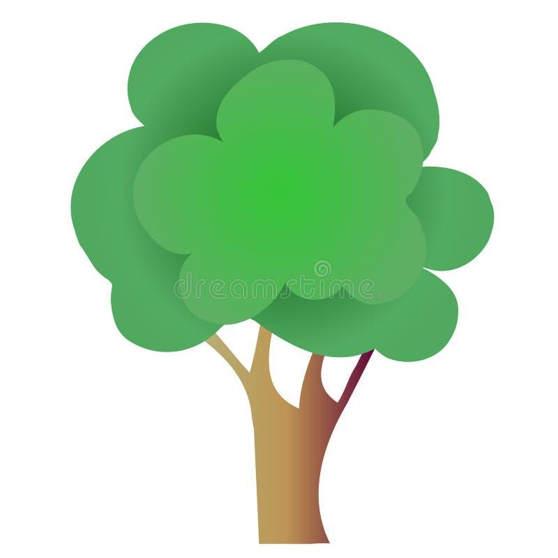 Vectorboom voor embleem, voor pictogram, voor getrokken decoratiehand royalty-vrije illustratie