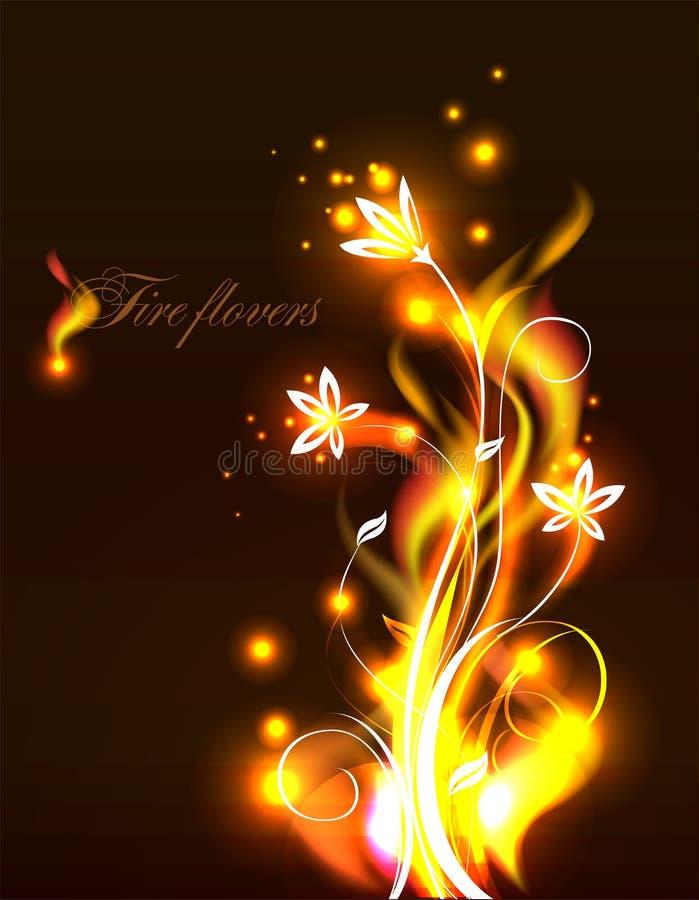 Vectorbrandbloemen royalty-vrije illustratie