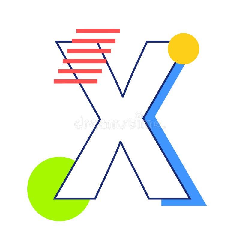 Vectorbrief X royalty-vrije illustratie