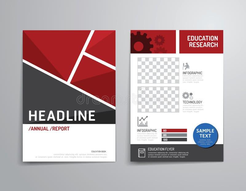 Vectorbrochure, vlieger, het ontwerp van de het boekjesaffiche van de tijdschriftdekking stock illustratie
