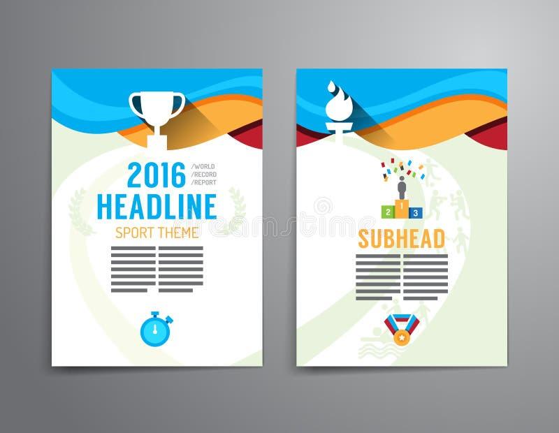 Vectorbrochure, vlieger, het ontwerp van de het boekjesaffiche van de tijdschriftdekking tem stock illustratie