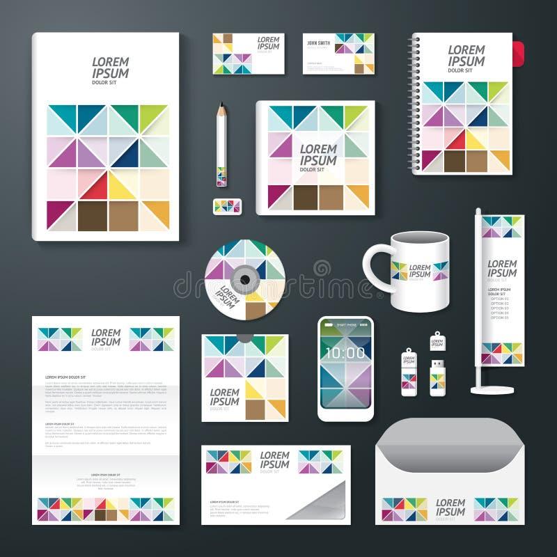 Vectorbrochure, vlieger, van de het boekjesaffiche van de tijdschriftdekking het ontwerpmalplaatje stock illustratie