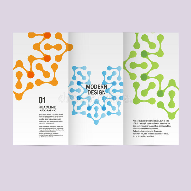 Vectorbrochures met abstracte cijfers Ontwerppatroon vector illustratie
