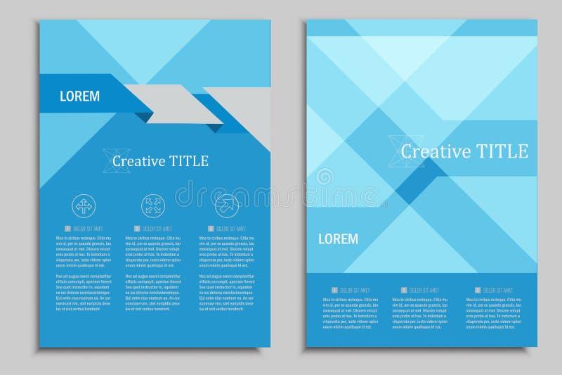 Vectorbrochuresmalplaatje voor presentaties, dekking, boeken en bedrijfsdocumenten Mooi geometrisch ontwerp stock illustratie