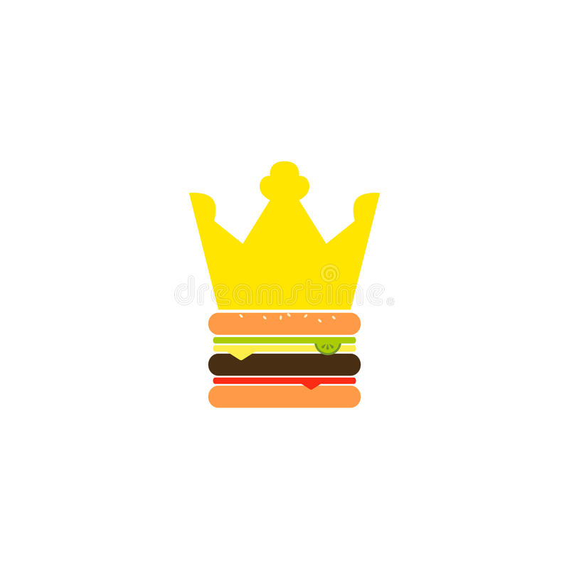 Vectorburger king Illustration royalty-vrije illustratie