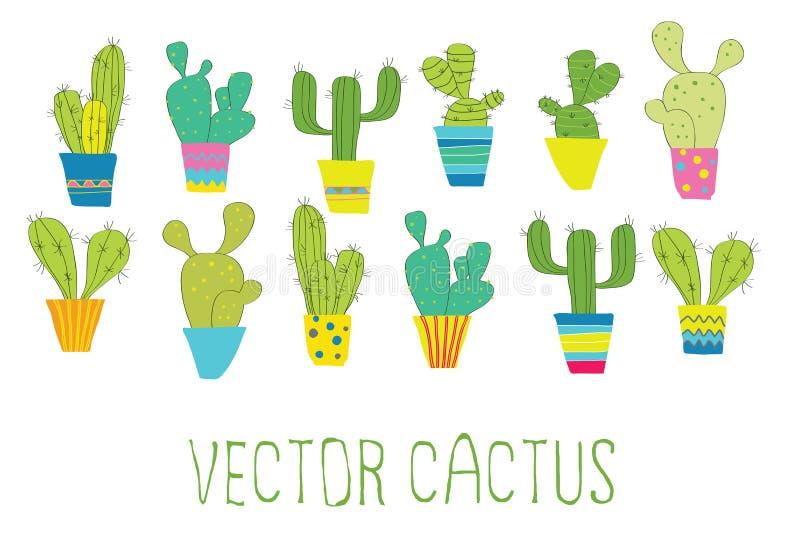 Vectorcactus royalty-vrije stock afbeeldingen