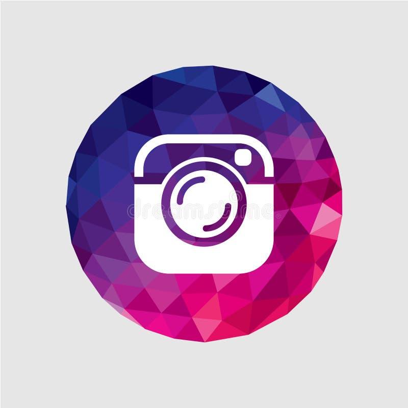 Vectorcamerapictogram royalty-vrije illustratie