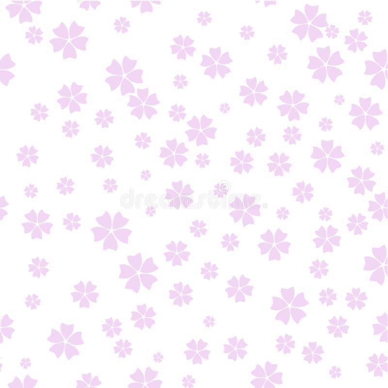 Vectorcherry blossom-patroon, de lenteachtergrond vector illustratie