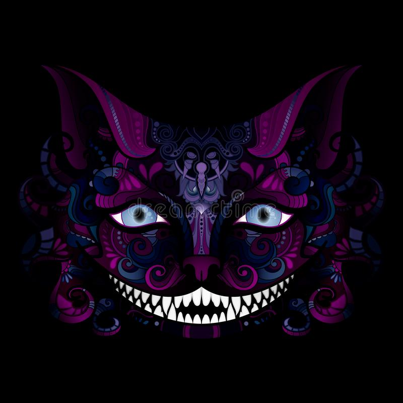 Vectorcheshire cat grin stock illustratie