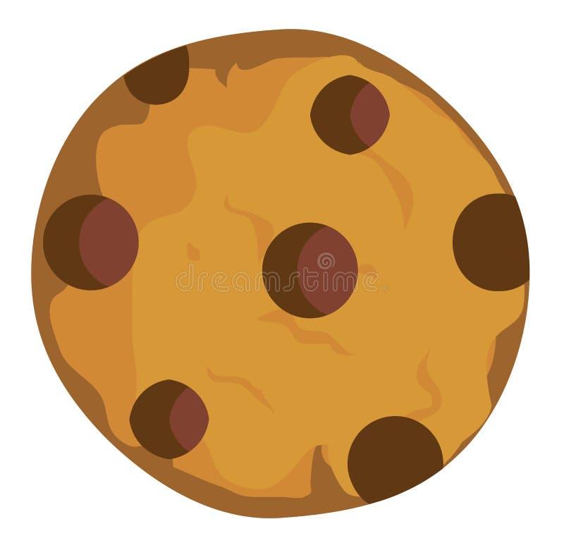 Vectorchocolade Chip Cookie vector illustratie