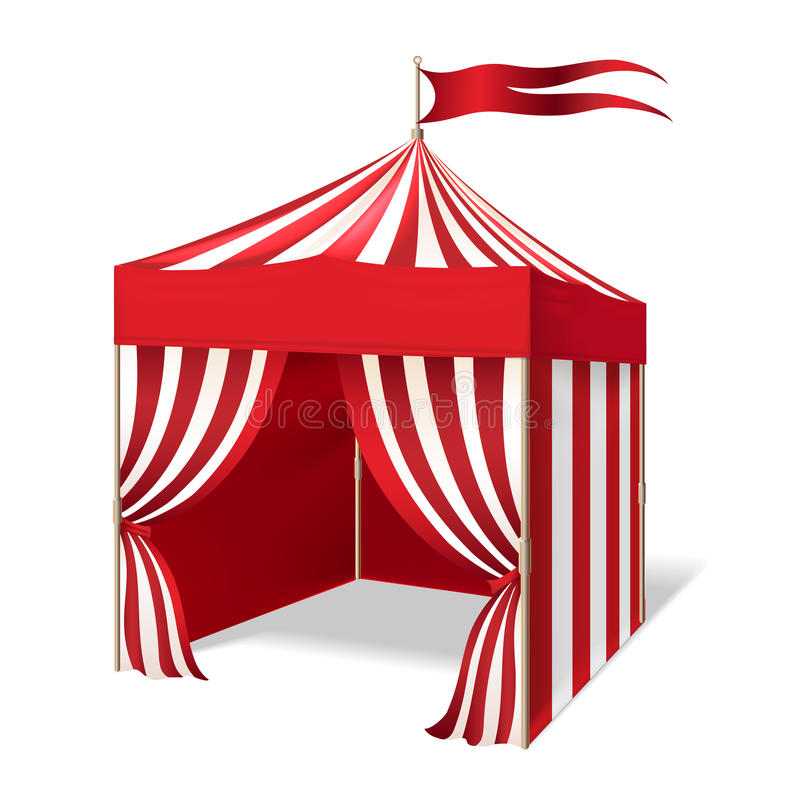 Vectorcircus of Carnaval-tent stock illustratie