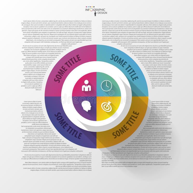 Vectorcirkel bedrijfsconcepten met pictogrammen Infographic vector illustratie