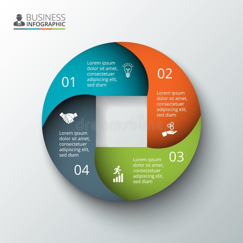 Vectorcirkelelement voor infographic royalty-vrije illustratie